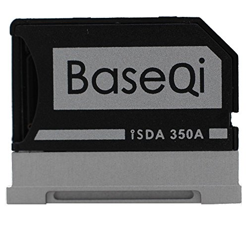 "BASEQI Aluminum MicroSD Adapter for Microsoft Surface Book, Surface Book 2, Surface Book 3 13.5"" (Model-350A)"