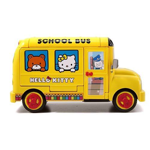 Exclusive Hello Kitty 40th Anniversary School Bus Playset