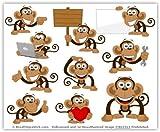 Cartoon Monkey Clip Art - Cute Monkey Mascot Stock Illustration!