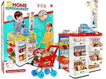 Supermercado Juguete Tienda con Carrito de la Compra: Amazon.es: Juguetes y juegos