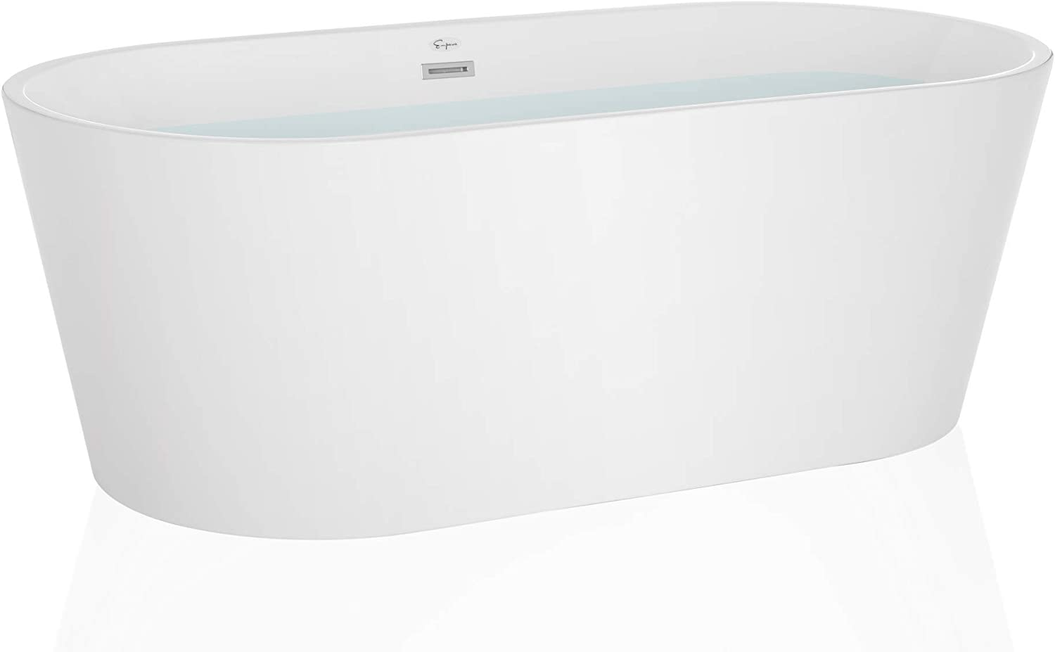 Empava 59 Made in USA Stand Alone Acrylic Soaking SPA Tub Modern Freestanding Bathtubs with Custom Contemporary Design EMPV-59FT1505