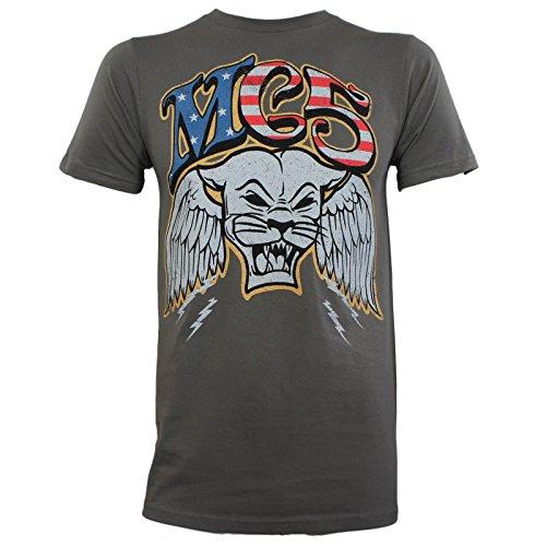Mc5 Panther - MC5 Mens Winged Panther Slim Fit T-Shirt XL