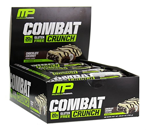 Muscle Pharm Combat Crunch Chocolate Coconut 12 Bars,Net WT 26.67 OZ(756g)