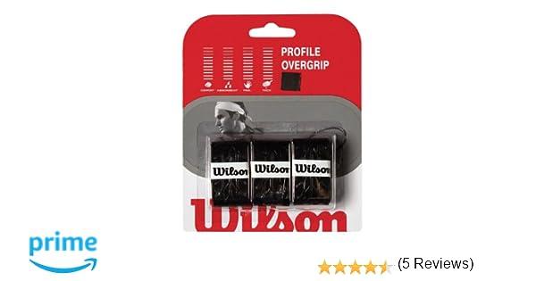 WILSON WRZ4025BK Profile Overgrip, Color Negro 3 Unidades, Adultos ...