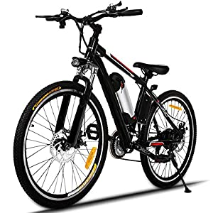 "Hicient Electric Bike Electric Bicycle for Adult 26"" Electric Mountain Bike 250W Ebike 21 Speed Gear with Removable Lithium Battery and Battery Charger"
