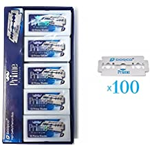*New* Dorco Prime Platinum STP-301 Double Edge Blades (100 Blades) - Double Coating, Extra Sharp, Less Irritation