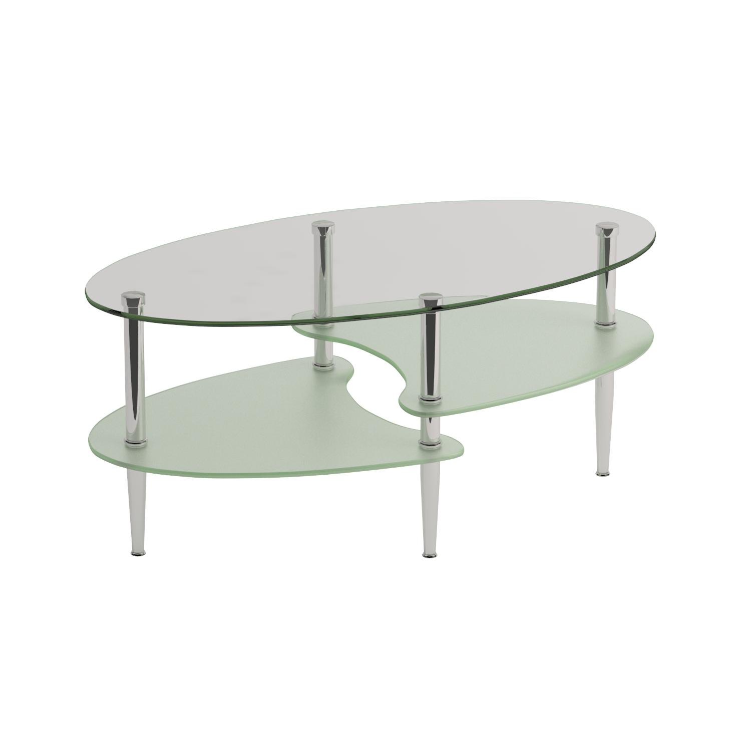 Amazon Walker Edison Glass Oval Coffee Table Kitchen & Dining