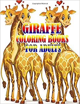 Relaxing Coloring Book For Grownups Giraffe Coloring Books for Adults