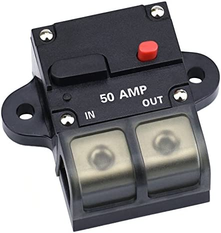 What Gauge Wire For 50 Amp >> Cllena 50 Amp Circuit Breaker With Manual Reset 0 8 Gauge Wire Inline Fuse Block 12v 42v Dc For Car Rv Marine Automotive Stereo Audio Electronic