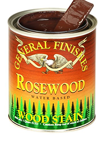 General Finishes WRPT Water Based Wood Stain, 1 Pint, Rosewood