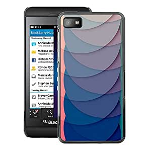 A-type Arte & diseño plástico duro Fundas Cover Cubre Hard Case Cover para Blackberry Z10 (Blue Pink Lines Scales Waves Abstract)