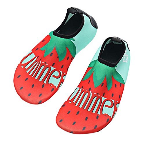 Shoes Kids Water Shoes Soft Sports Indoor Sock Shoes Shoes Beach Shoes Strawberry Shoes 00Oqa
