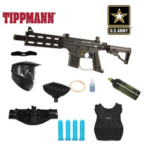 (Tippmann US Army Project Salvo Paintball Marker Gun Chest Protector Mega Package)