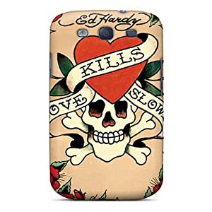 New Style Kristty Hard Case Cover For Galaxy S3- Ed Hardy