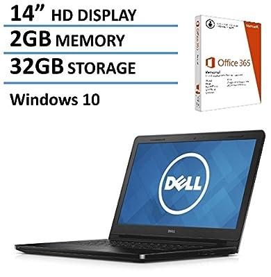 "2016 Newest Dell Inspiron 14.1"" Laptop with 1-year Office 365 and 1TB Cloud Storage, Intel Dual-Core Celeron Processor, 2GB RAM, 32GB Flash Storage, Webcam, HDMI, Windows 10 Home 64bit"