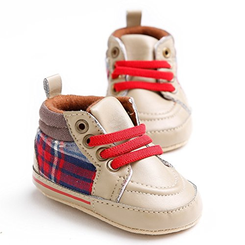 Leap Frog  Plaid Boots, Baby Mädchen Lauflernschuhe Rot