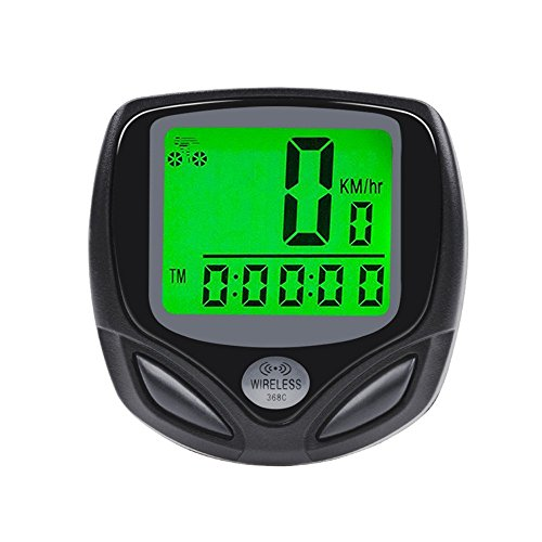 Haslo tech Bike Computer Wireless Bicycle Speedometer Odometer Waterproof Cycle Computer with Digital LCD Backlight Auto Power On/Off Systems Multi Function by Haslo tech
