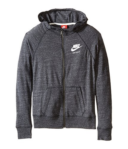 Nike Kids Gym Vintage Full Zip Hoodie Little Kids/Big Kids Anthracite/Sail Girls Sweatshirt