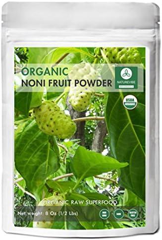 Naturevibe Botanicals USDA Organic Noni Fruit Powder (8 Ounces) - Morinda Citrifolia - 100% Pure & Natural - GlutenFree & Non-GMO   Supports Immunity System