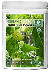 Naturevibe Botanicals Usda Organic Noni Fruit Powder (8 Ounces) - Morinda Citrifolia - Pure & Natural