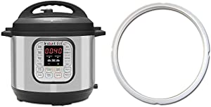 Instant Pot Duo 7-in-1 Electric Pressure Cooker, 6 Quart, 14 One-Touch Programs & Single Sealing Ring Clear, 5 or 6 Quart