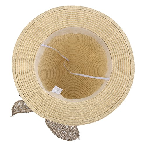 29f45c7369fe5 Connectyle Kids Classic Lovely Summer Straw Hat Cap Bowknot Beach ...