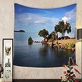 Lee S. Jones Custom tapestry lake malawi in africa