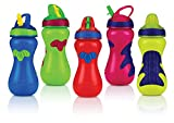 Baby : Nuby Flip-It Top Gator Grip Sipper, 15 Ounce, Colors May Vary