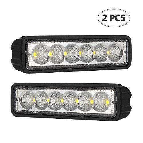 - Led Light Bar BEAMCORN 2Pcs 6 inch Single Row Slim 18W Flood White [ Aluminum Alloy Die-Casting Shell ] Flush Mount Waterproof Driving Off Road Lights for Trucks SUV ATV 4WD Golf Cart Vehicles