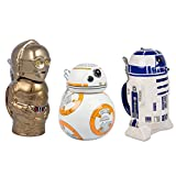 Star Wars BB-8, R2-D2 and C-3PO Ceramic Beer Steins with Hinged Lids - Set of 3 - 32 oz