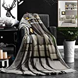 """Nalagoo Unique Custom Flannel Blankets Modern Living Room With Fireplace Super Soft Blanketry for Bed Couch, Throw Blanket 50"""" x 60"""""""