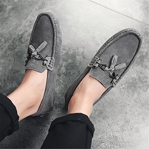 Nanxie Zapatos 38 Tamaño Gray Eu40 A eu41 Mocasín Genuino Hombre Cuero Confort 43 Mocassin Carrera Y Oficina Ligero Conducción rrqCdwOS