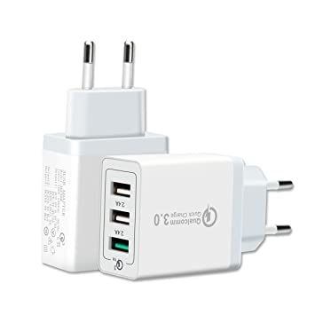 c84979212d6 Cargador USB Multiple Qualcomm Quick Charge 3.0: Amazon.es: Electrónica