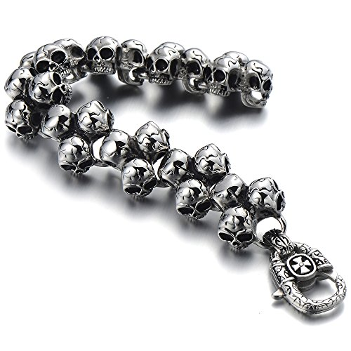 Gothic Stainless Triple Bracelet Polished