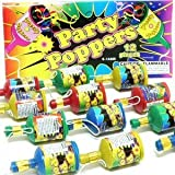 12 Piece Party Poppers by Unique