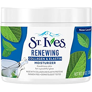 St. Ives Facial Moisturizer for Dry Skin, Collagen Elastin, for visibly softer/smoother skin, 100% natural moisturizers,10 oz