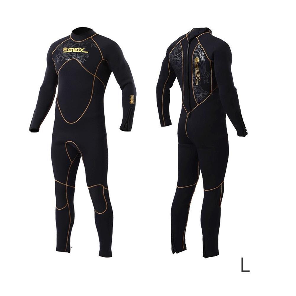 ZHUOTOP 5mm ネオプレン スキューバ ダイビング フリース 裏地 ウェットスーツ シュノーケリング サーフィン 暖かい水着 ジャンプスーツ メンズ レディース B07BWFKZJ5 男性 X-Large
