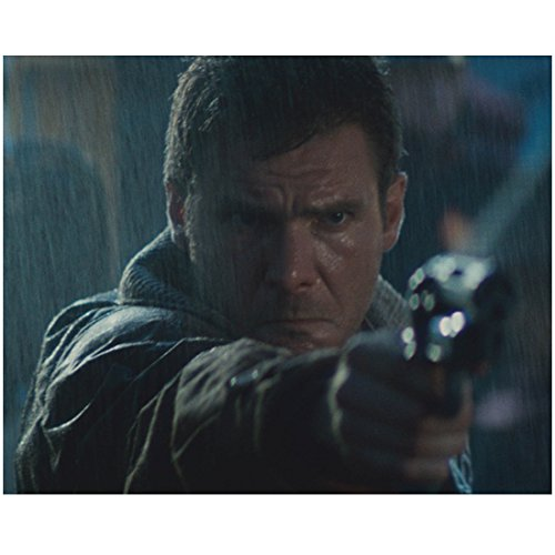 Harrison Ford 8 Inch x10 Inch Photo Blade Runner Star Wars Raiders of the Lost Ark Head Shot in Rain w/Gun kn
