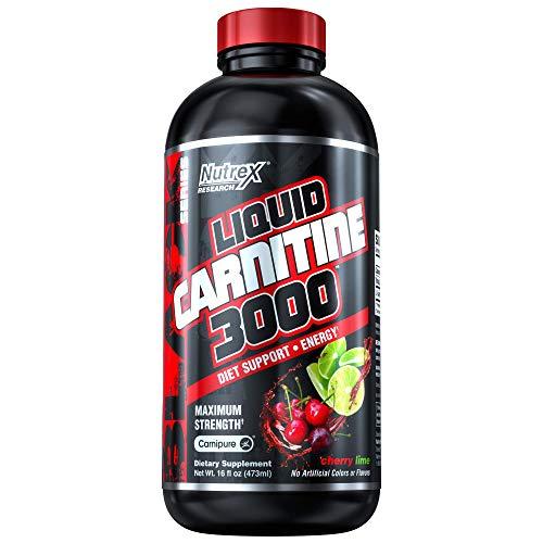 Nutrex Research Liquid Carnitine 3000 | Premium Liquid Carnitine, Stimulant Free, Fat Loss Support | Cherry Lime