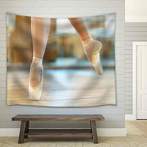 Beautiful Legs of a Dancer in Pointe Fabric Wall
