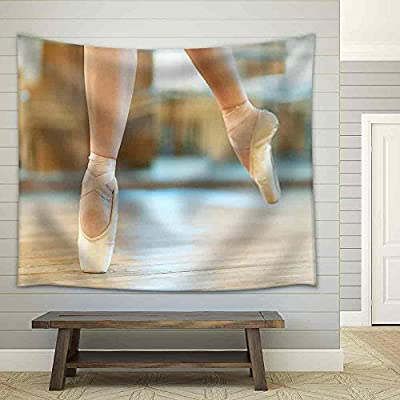 Stunning Artisanship, With a Professional Touch, Beautiful Legs of a Dancer in Pointe Fabric Wall