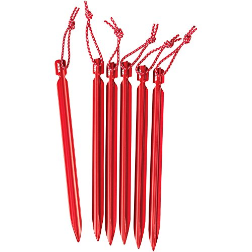 MSR Groundhog Tent Stake Kit, 6-Pack, Mini - 6-Inch ()