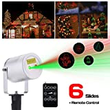 Laser Christmas Light, Ominilight Aluminum Alloy Star Projector Shower with 6 in 1 Pattern, Remote Contol, Waterproof Landscape Lighting, Outdoor Decorations Easter Day