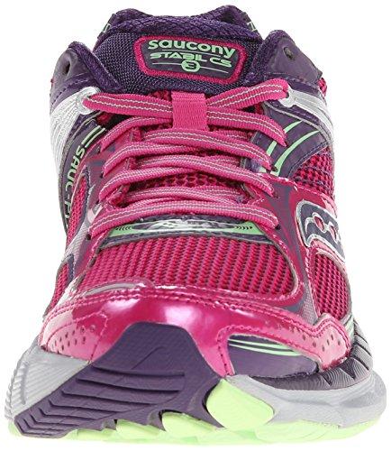Saucony Womens Stabil Cs3 Scarpa Da Running Bacca / Verde