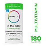 Rainbow Light - 50+ Mini-Tablet Food-Based Multivitamin - Age-defense Formula Probiotic and Antioxidant Formula; Vitamins and Minerals Support Immune, Heart, Skin, Eye, Bone and Prostate - 180 Tablets