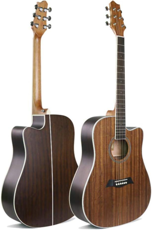 LOIKHGV Guitarras- Guitarra Folk de 41 Pulgadas Guitarra acústica con Cuerdas de Acero de Nogal Guitarra Folk, 41 Pulgadas
