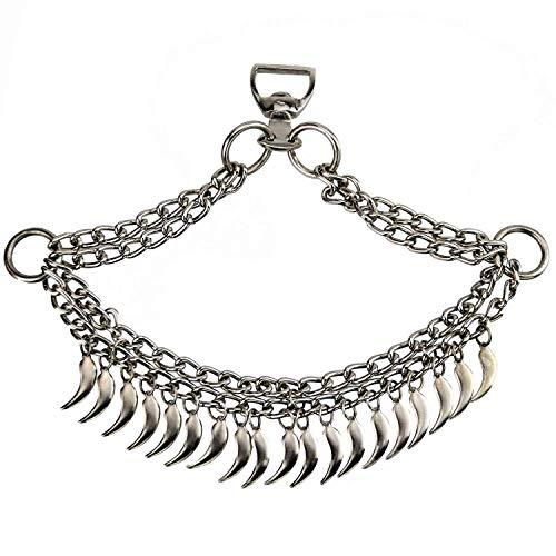 NileCart Native Egyptian/Arabian Horse Noseband Chains Dance Show Saddle tack (Chrome Plated) ()