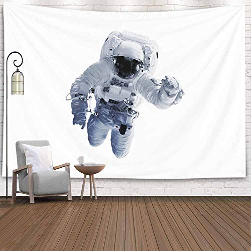 Fullentiart College Dorm Room Decor, Wall Art Living Room Bedroom Tapestry Astronaut Elements This Image Furnished NASA Dinning Room Wall Decor Cool Dorm Room Decor 80X60 Inches (Questions To Ask About The Moon Landing)