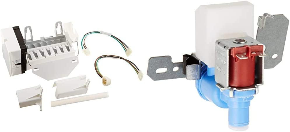ERP WR30X10093 Ice Maker Kit & GE WR57X10033 Water Valve for Refrigerator