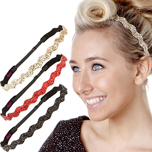 Hipsy Womens Adjustable Bling Glitter